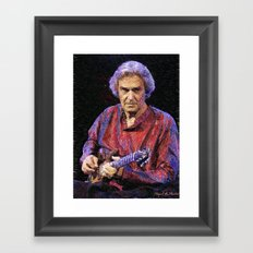 Awesome guitar player Framed Art Print