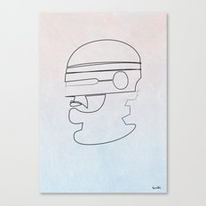 One Line Robocop Canvas Print