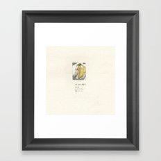 I'm not a banana-III Framed Art Print