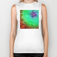 tie dye Biker Tanks featuring Vintage Abstract Tie Dye by Phil Perkins