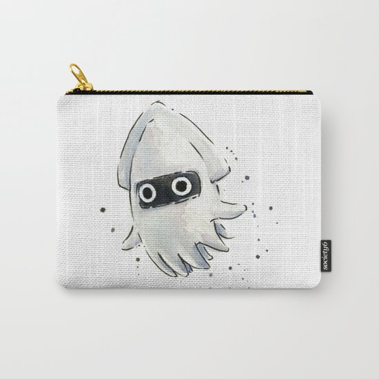Blooper Squid Mario Watercolor Geek Art Carry-All Pouch