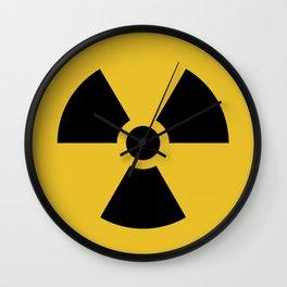 Radiation Hazard Symbol Wall Clock