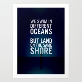 Bioshock Lighthouse Quote Poster Art Print