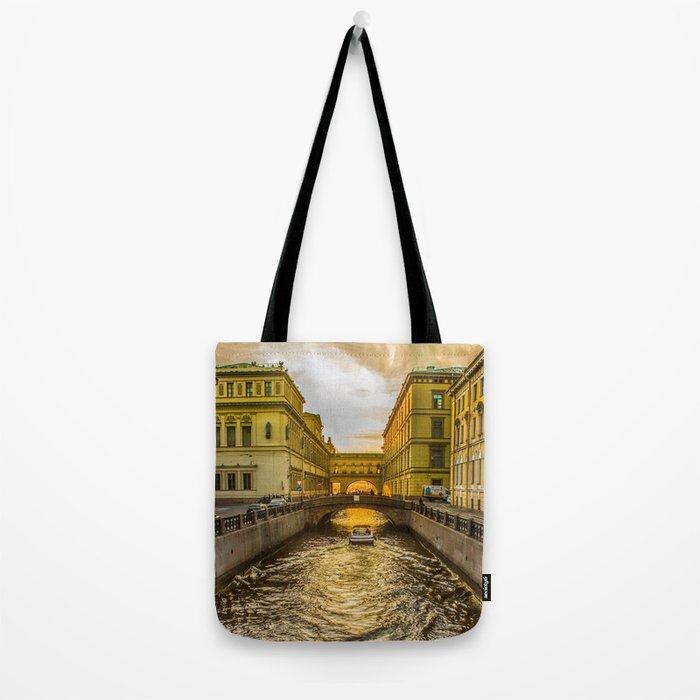 Swan Canal in St. Petersburg Tote Bag