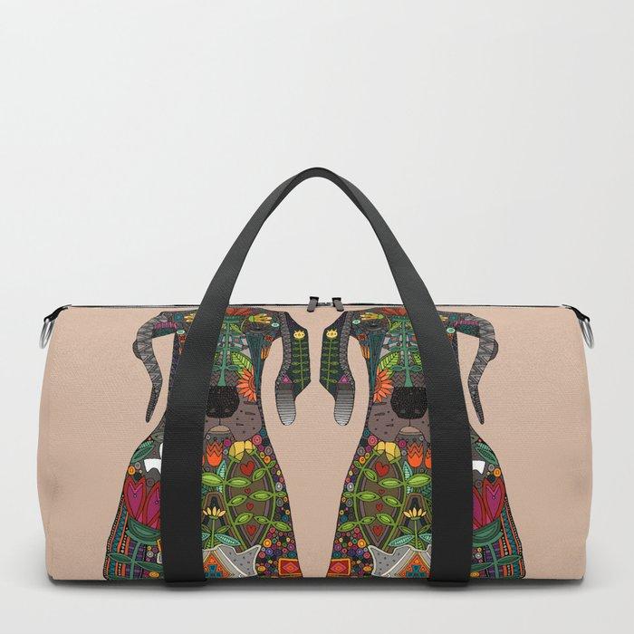 Great Dane love beige Duffle Bag