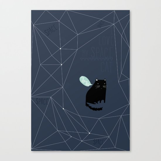 my_spacecat Canvas Print