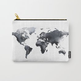 Blue world map Carry-All Pouch