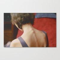 peach Canvas Prints featuring Peach by Mariam Sitchinava