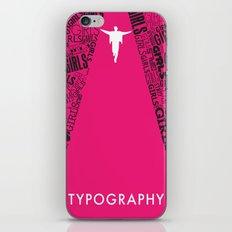 Typography. iPhone & iPod Skin