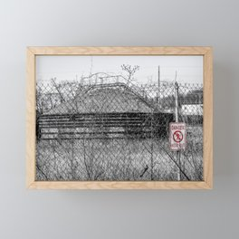 No Trespassing Framed Mini Art Print