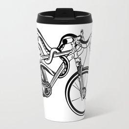 Snake Riding  A Mountain Bike Travel Mug