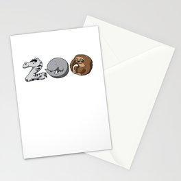 Zoo Keeper Zoologist Kids Animal Alphabet Gift Stationery Cards