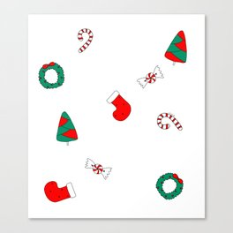 Winter Holiday Themed Illustration Merry Christmas! Canvas Print