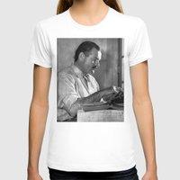 hemingway T-shirts featuring Ernest Hemingway  by Limitless Design