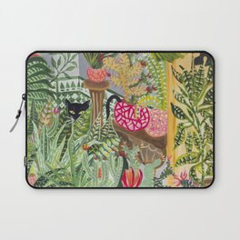 Black cat in the Garden Laptop Sleeve