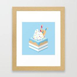 Blue Party Cake Framed Art Print