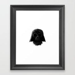 Vader (White) Framed Art Print