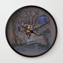 WHO Shall Not Pass Wall Clock