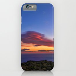 Lenticular Cloud Red Sunset Photographic Landscape iPhone Case