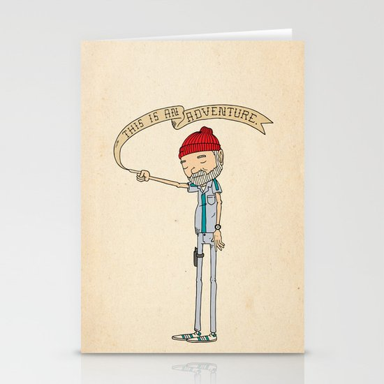 """THIS IS AN ADVENTURE."" - Zissou Stationery Cards"