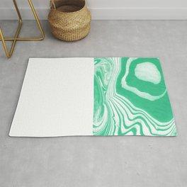 Akihiko - spilled ink abstract watercolor marble paper marbling ocean water waves sea minimal  Rug