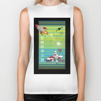 sci fi Biker Tanks featuring Sci Fi Summer Surfing by Anderssen Creative Imaging