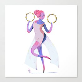dancer with tambourine Canvas Print