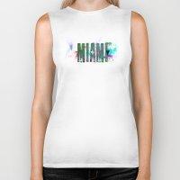 miami Biker Tanks featuring Miami by Tonya Doughty