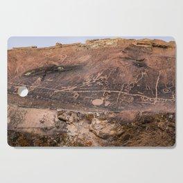Desert Rock Art Petroglyphs Panoramic Cutting Board