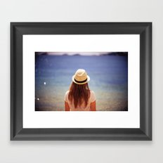 Summer Hat Framed Art Print