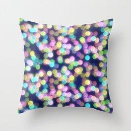 Coloured Bokeh Throw Pillow