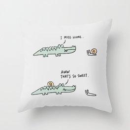 Mr. Croc: Miss Home Throw Pillow