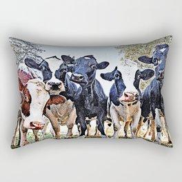 Funny cows Rectangular Pillow