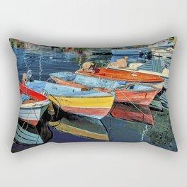 Puerto Mogan Boats Rectangular Pillow