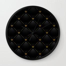 Black Checkered Tile Wall Clock