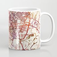 austin Mugs featuring Austin by MapMapMaps.Watercolors