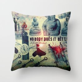 NOBODY DOES IT BETTER by ZZGLAM Throw Pillow