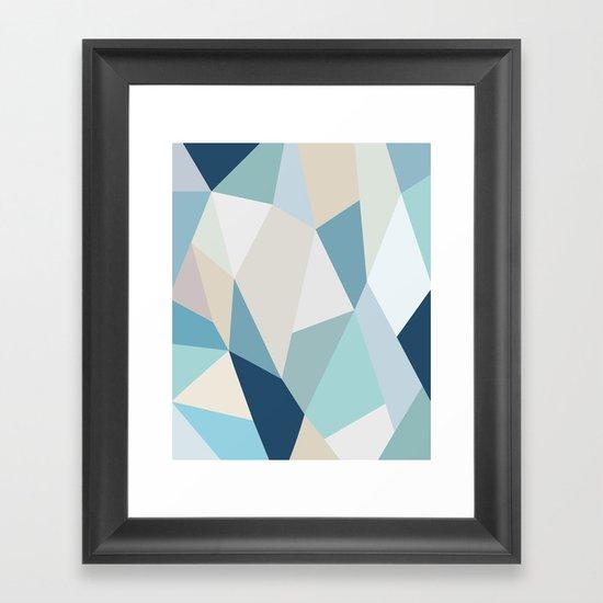 SPRING LOVE { BLUE } Framed Art Print