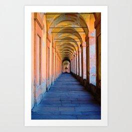 Portici di Bologna Art Print