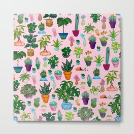 ALL THE POTTED PLANTS Metal Print