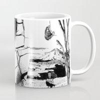 pittsburgh Mugs featuring PITTSBURGH, PENNSYLVANIA by Alberto Matsumura