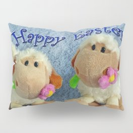 Happy Easter Lambs Pillow Sham