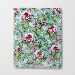 Frosty Florals #society6 #decor #buyart Metal Print