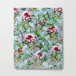 Frosty Florals #society6 #decor #buyart Metal Print