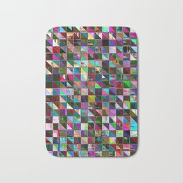 glitch color pattern Bath Mat
