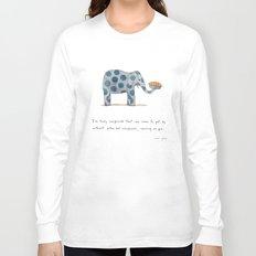 polka dot elephants serving us pie Long Sleeve T-shirt