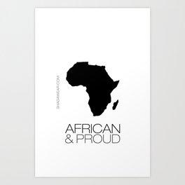 African & Proud Art Print