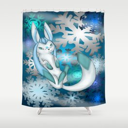 Winter Glaceon Shower Curtain