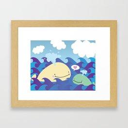 Whale Love Framed Art Print