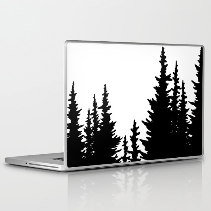 Dense Forest Tree Line Laptop & iPad Skin